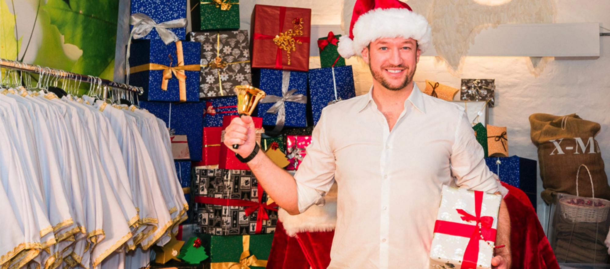 Jan Mitja Biehl als Weihnachtschef