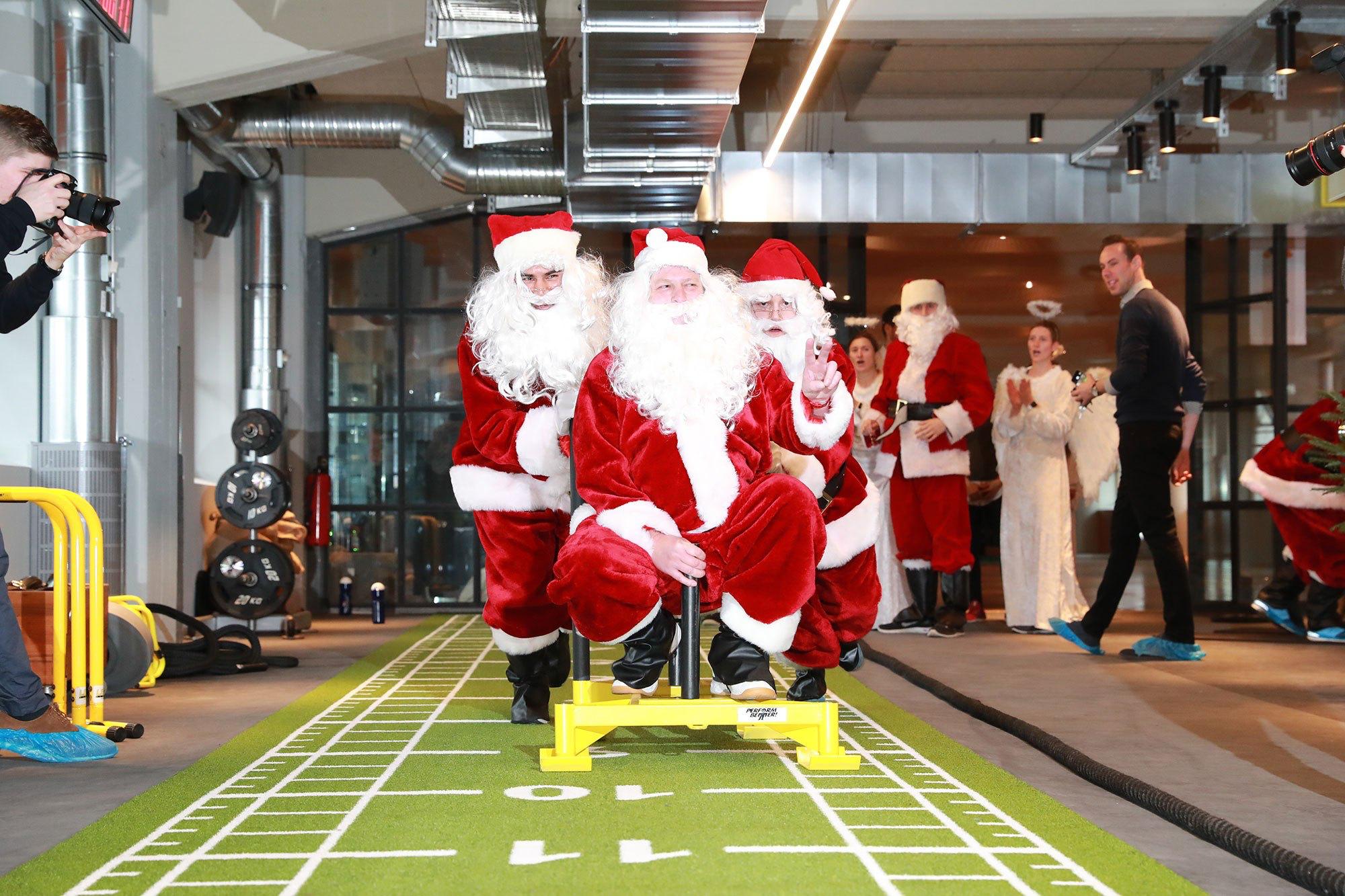 Weihnachtsmann Einsatz Einkaufszentrum